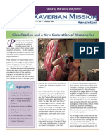 Xaverian Mission Newsletter February 2010