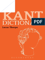 The Kant Dictionary (2015)