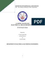 Eletrical Measurements