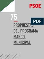 75 propuestas del programa marco municipal del PSOE 2015 (PDF)
