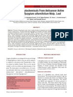 Isolation of Phytochemicals From Anticancer Active Extracts of Syzygium Alternifolium Walp. Leaf