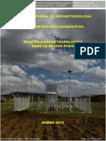 Boletin Agrometeorológico de Enero 2015