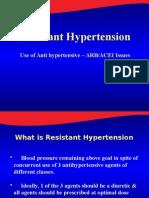 Resistance HTN & ACEI vs ARB