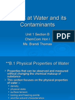 Chem Com Unit 1B A Look at Water and its Contaminants