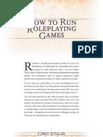 How to Run an RPG
