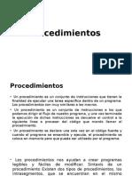 3.1 procedimientos