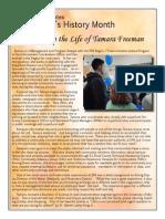 A Day in the Life of Tamara Freeman
