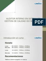 Curso Auditor Interno SGC ISO 9001-2008