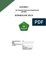 Contoh Model Dokumen I KTSP MI.docx