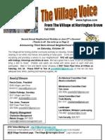 Village Voice Newsletter - Fall 2009
