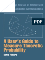 Cambridge series in statistical and probabilistic mathematics david mathematics david pollard a users guide to measure theoretic probability cambridge university press 2001pdf probability theory expected value fandeluxe Gallery