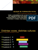 Desarrollo de La Voz