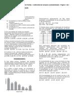 Coeficiente de Variação e Probabilidades