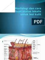 Morfologi dan cara membuat status lokalis untuk lesi kulit.pptx