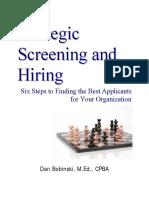 Screening and Hiring