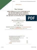 Mao-rev- Discursos en Una Conferencia de Secretarios de Comités Provinciales, Municipales y de Región Autónoma Del Partido;Obras Escogidas, Tomo v, Discurso Del 27 de Enero, 1957