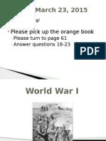 world war i - spring 2011 1