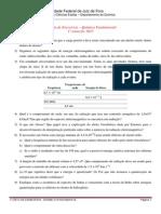 Primeira Lista de Exercicios Quimica Fundamental