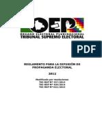 Reglamento de Difusion de Propaganda Electoral 2015
