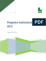 Programa Institucional 2012 Metas