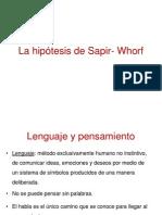 La Hipc3b3tesis de Sapir Whorf