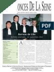 Edition Du Lundi 1 Octobre 2012