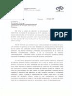Carta del Ministerio Público a Amnistia Internacional