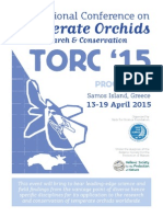 International Conference On Temperate Orchids Research & Conservation TORC '15