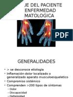 Enfoque Del Paciente Con Enfermedad Reumatologica