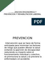 Intervencion Ergonomica y Prevencion y Rehabilitacion Laboral
