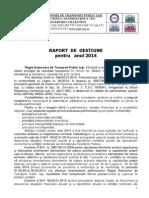 Raport de Gestiune 2014