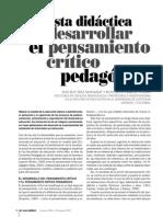 Propuesta Didactica Pensamiento Critico Pedagógico