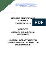 Informe de Rendicion de Cuentas 2014