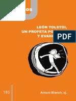 CJ 183, León Tolstoi, un profeta político y evangélico - Antony Blanck, SJ
