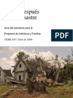 Help After Disaster Spanish