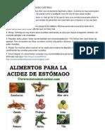 Alimentos Que Reducen El Ácido Gástrico