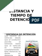 Distancia y Tiempo de Detención