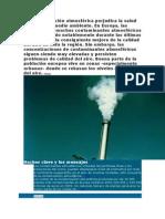 La Contaminación Atmosférica Perjudica La Salud Humana y El Medio Ambiente