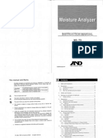Instruction Manual Moisture Analyzer