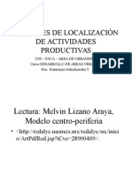 Factores de Localización geográfica de actividades productivas