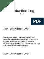 Production Log - Daoud