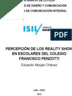 Investigación Reality Show