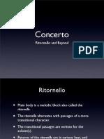 Ritornello Concerto Form