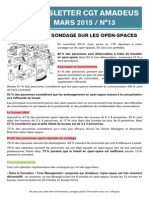 Newsletter 13 - Résultat Sondage Open-spaces