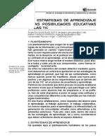 LAS ESTRATEGIAS DE APRENDIZAJE Y LAS POSIBILIDADES EDUCATIVAS DE LAS TIC