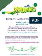Energy Wellness Event