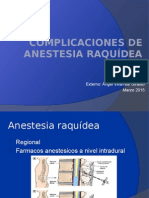 COMPLICACIONES DE Anestesia raquídea.pptx