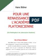 Hans Blüher = Renaissance de l'Académie platonicienne