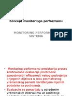 Koncept monitoringa performansi