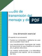 Medio de Transmisión Del Mensaje y Discurso